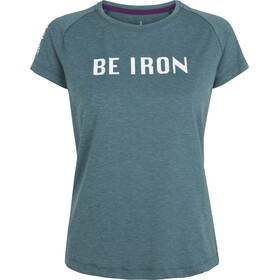 Fe226 Be Iron DryRun Maglia A Maniche Corte Prep Donna, darkest green